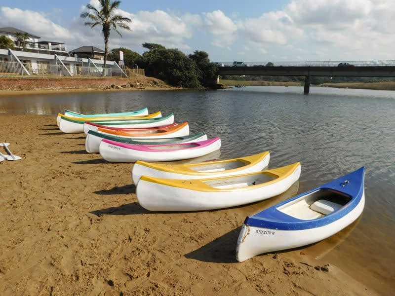 Canoes on St Michaels Beach
