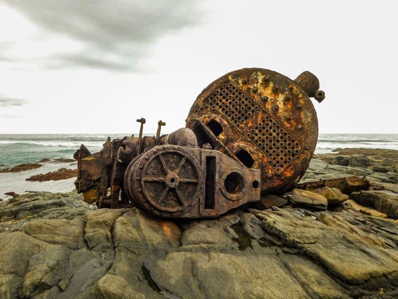 Nightingale Shipwreck on Glenmore Beach
