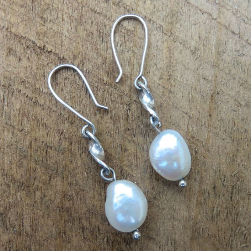 Freshwater Pearls with Sterling Silver Earrings